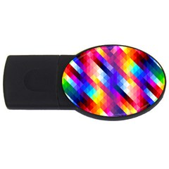 Abstract Background Colorful Pattern Usb Flash Drive Oval (4 Gb)