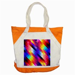Abstract Background Colorful Pattern Accent Tote Bag