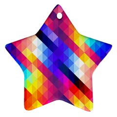 Abstract Background Colorful Pattern Star Ornament (two Sides)