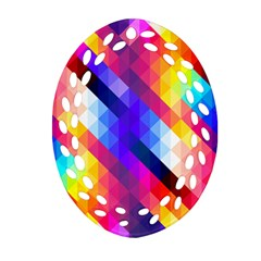 Abstract Background Colorful Pattern Ornament (oval Filigree)