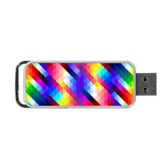 Abstract Background Colorful Pattern Portable Usb Flash (one Side)
