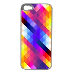 Abstract Background Colorful Pattern Apple Iphone 5 Case (silver)