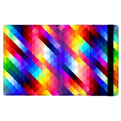 Abstract Background Colorful Pattern Apple Ipad 2 Flip Case