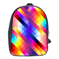 Abstract Background Colorful Pattern School Bag (xl)