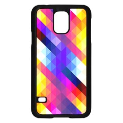 Abstract Background Colorful Pattern Samsung Galaxy S5 Case (black)