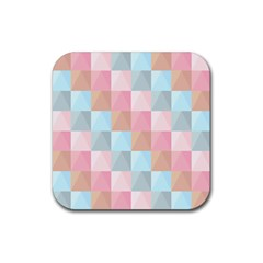 Abstract Pattern Background Pastel Rubber Coaster (square)