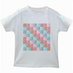 Abstract Pattern Background Pastel Kids White T Shirts