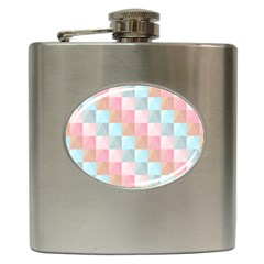 Abstract Pattern Background Pastel Hip Flask (6 Oz)