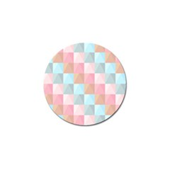 Abstract Pattern Background Pastel Golf Ball Marker