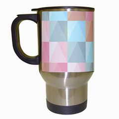 Abstract Pattern Background Pastel Travel Mugs (white)