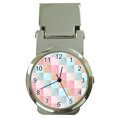 Abstract Pattern Background Pastel Money Clip Watches