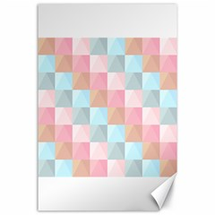 Abstract Pattern Background Pastel Canvas 24  X 36