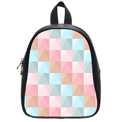 Abstract Pattern Background Pastel School Bag (small)