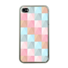 Abstract Pattern Background Pastel Apple Iphone 4 Case (clear)
