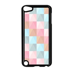 Abstract Pattern Background Pastel Apple Ipod Touch 5 Case (black)