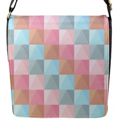 Abstract Pattern Background Pastel Flap Messenger Bag (s)