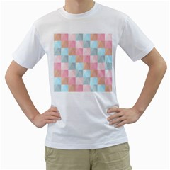 Abstract Pattern Background Pastel Men s T Shirt (white)
