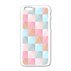 Abstract Pattern Background Pastel Apple Iphone 6/6s White Enamel Case