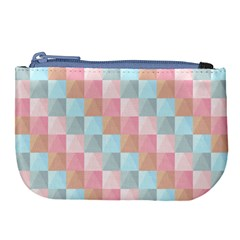 Abstract Pattern Background Pastel Large Coin Purse