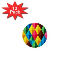 Background Colorful Abstract 1  Mini Buttons (10 Pack)  by Nexatart