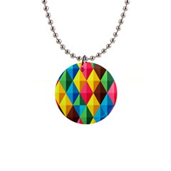 Background Colorful Abstract Button Necklaces