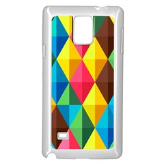Background Colorful Abstract Samsung Galaxy Note 4 Case (white)
