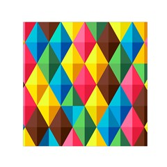 Background Colorful Abstract Small Satin Scarf (square)