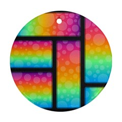 Background Colorful Abstract Round Ornament (two Sides)