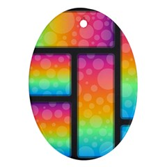 Background Colorful Abstract Oval Ornament (two Sides)