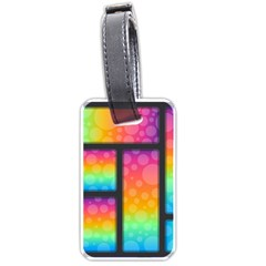 Background Colorful Abstract Luggage Tags (two Sides)