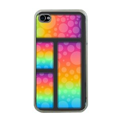 Background Colorful Abstract Apple Iphone 4 Case (clear)