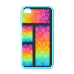 Background Colorful Abstract Apple Iphone 4 Case (color)
