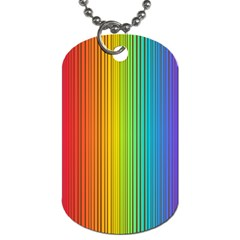 Background Colorful Abstract Dog Tag (two Sides)