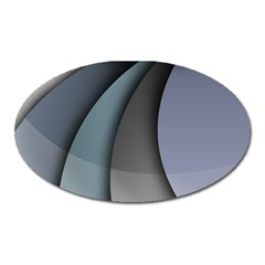 Abstract Background Abstraction Oval Magnet