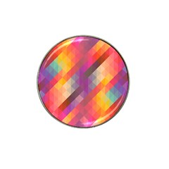 Abstract Background Colorful Pattern Hat Clip Ball Marker (10 Pack)