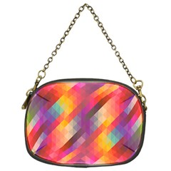 Abstract Background Colorful Pattern Chain Purses (one Side)