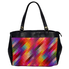 Abstract Background Colorful Pattern Office Handbags