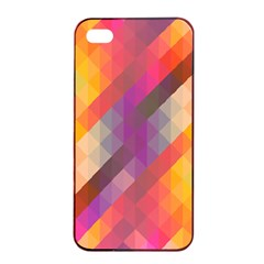 Abstract Background Colorful Pattern Apple Iphone 4/4s Seamless Case (black)