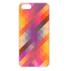 Abstract Background Colorful Pattern Apple Iphone 5 Seamless Case (white)