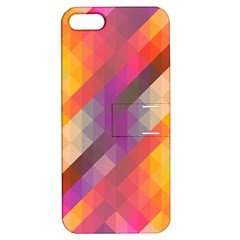 Abstract Background Colorful Pattern Apple Iphone 5 Hardshell Case With Stand