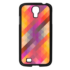 Abstract Background Colorful Pattern Samsung Galaxy S4 I9500/ I9505 Case (black)