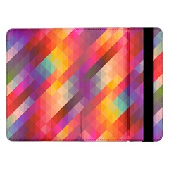 Abstract Background Colorful Pattern Samsung Galaxy Tab Pro 12 2  Flip Case