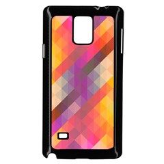 Abstract Background Colorful Pattern Samsung Galaxy Note 4 Case (black)