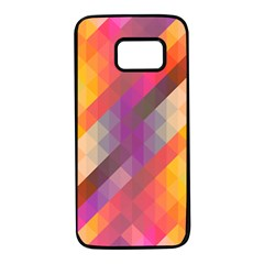 Abstract Background Colorful Pattern Samsung Galaxy S7 Black Seamless Case