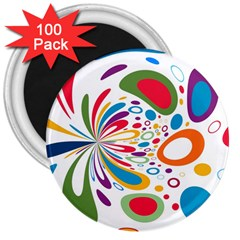 Light Circle Background Points 3  Magnets (100 Pack)