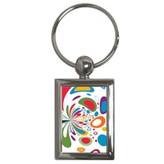 Light Circle Background Points Key Chains (rectangle)