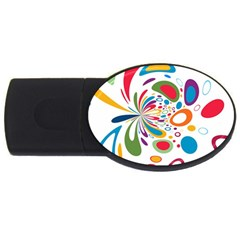 Light Circle Background Points Usb Flash Drive Oval (4 Gb) by Nexatart