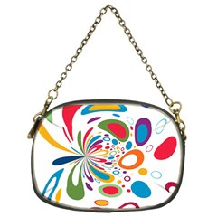 Light Circle Background Points Chain Purses (one Side)