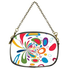 Light Circle Background Points Chain Purses (two Sides)