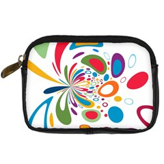 Light Circle Background Points Digital Camera Cases